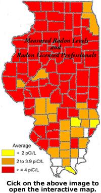 Joliet Il Zip Code Map.Radon Levels By County And Zip Code Elliott Associates Radon