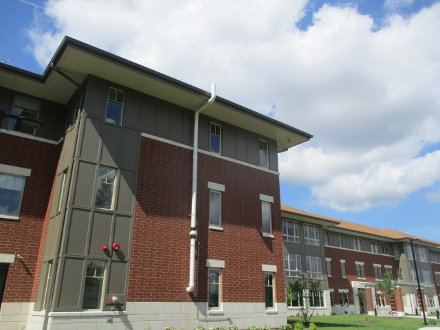 Radon System Exterior Apartment Building