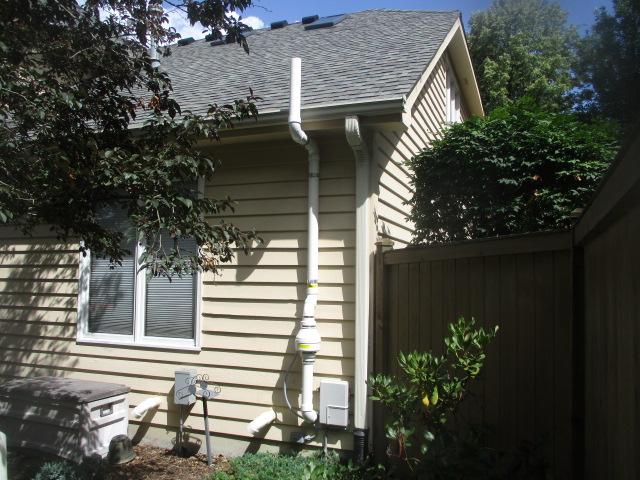 Radon fan exterior ranch house