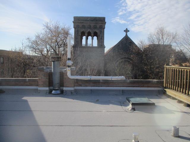 Radon Fan on Rooftop