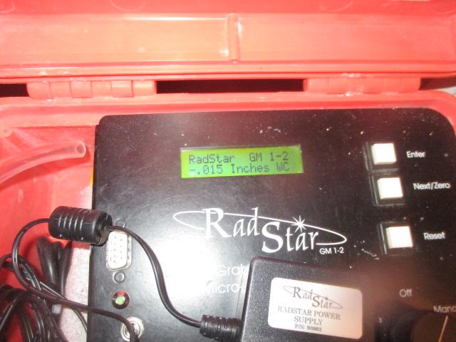 Pressure Field Extension PFE Testing Radon Sniffer